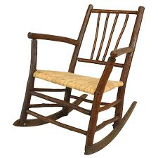 early 20th century american rustic old hickory rocking chair for