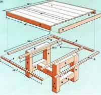 Plans For Outdoor Patio Table by Over 100 Free Outdoor Woodcraft Plans At Allcrafts Net