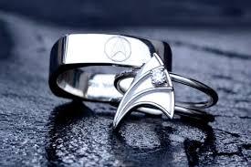 lols wedding band trek insignia inspired wedding band ring i think tim i