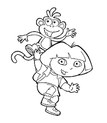 dora christmas coloring pages coloring