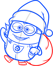 draw christmas minion disney loveit