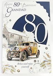 happy 80th birthday grandad card traditional elegant 80 verse male