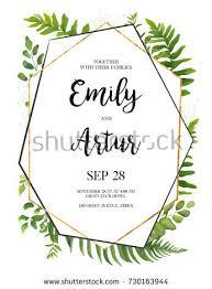 wedding invitation floral invite card design stock vector