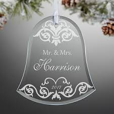 personalized ornaments wedding personalized wedding christmas ornaments damask wedding bell