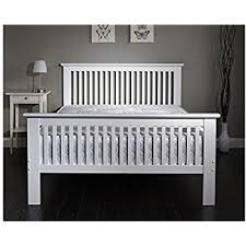 tillbury 4 u00276 double wooden bed white frame solid nordic wood