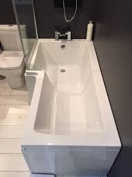 l shaped baths uk hypnofitmaui com mere tissino lorenzo 1700 x 700mm l shaped left hand shower bath options
