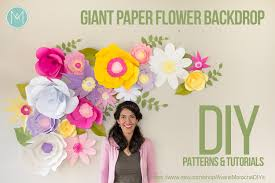flower backdrop diy paper flower backdrop avanti morocha