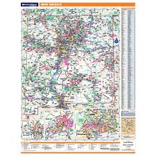 New Mexico Map With Cities And Towns by New Mexico Laminated State Wall Map
