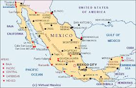 map of mexuco map of mexico showing cities map mexico showing cities