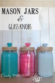 mason jars and glass knobs country design style
