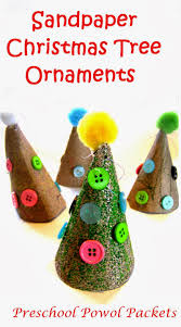 sandpaper christmas tree ornament kids craft preschool powol packets