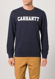 carhartt wip men sweatshirts sweatshirt navy white carhartt wip