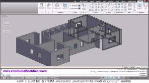 How To Draw 3D Building Drawing Autocad 3D House Modeling Tutorial