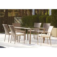 Wood Patio Dining Table by Furniture Back Yard With Brown Wicker Contemporary Patio Dining