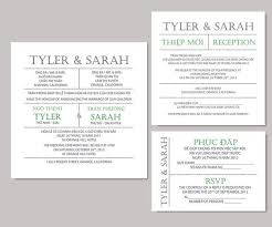 bilingual wedding invitations wedding invitations badbrya wedding