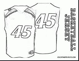 brilliant basketball jersey coloring templates with nba coloring