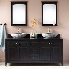 Vessel Sink Vanities For Small Bathrooms Black Double Sink Vanity Signature Hardware