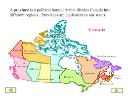 regions of canada map canada powerpoint