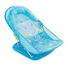 baby shower seat summer infant deluxe baby bather splish splash blue model