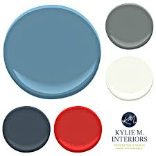 blue benjamin moore paint colour palette ideas for boys teenage bedroom using blue
