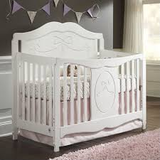 White Convertible Crib With Drawer Fixed Side Convertible Crib In White 04587 151