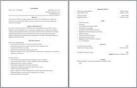 Resume Header Examples by Two Page Resume Format Example Resume Format 2017