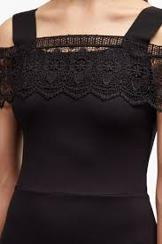 petra lace beau cold shoulder dress collections french connection