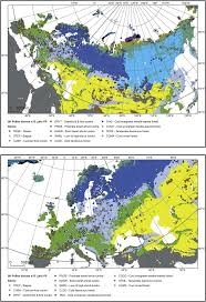 Map Of Eurasia Vegetation Of Eurasia From The Last Glacial Maximum To Present