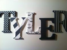 Letter Decorations For Nursery Painted Wooden Letters Name Hangings Grey And Blue For