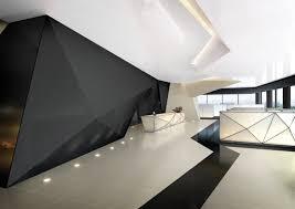 futuristic interior hi macs the geometric design used adds a