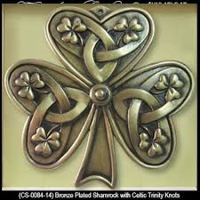 gifts bronze celtic shamrock wall plaque