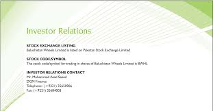 contact admin investor relations contact baluchistan wheels limited