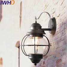 retro outdoor light fixtures iwhd glass led wall light vintage industrial lighting wall l