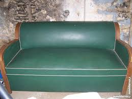 canap cuir vert canap cuir vintage convertible great with canap cuir vintage