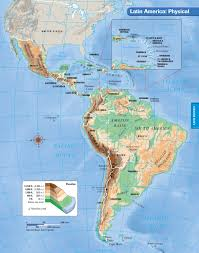 The Map Of South America by South America Physical Map Freeworldmapsnet South America