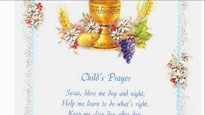 First Communion Invitations Cards Child U0027s Prayer First Communion Greeting Card Boy Youtube