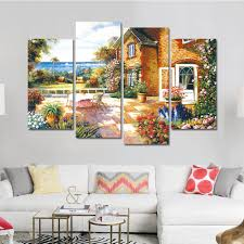 popular country landscape prints buy cheap country landscape 2017 drop shipping landscape oil painting home decoration wall art print on canvas for hotel