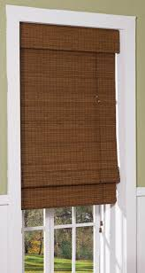 front door window coverings amazon com radiance cape cod bamboo roman shade with valence 23