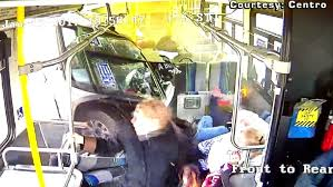 must see video shows moment truck crashed into centro bus last