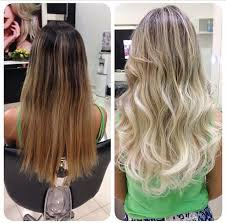 pics of platnium an brown hair styles light brown to platinum blonde sombre google search hair color