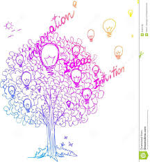 the tree of ideas vector stock vector illustration of bulb 44364432