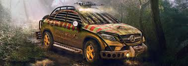 jurassic park car mercedes mercedes benz gle 450 amg scares with jurassic park makeover