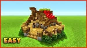 How To Build A Small House Minecraft How To Build A Small Survival House Asmr