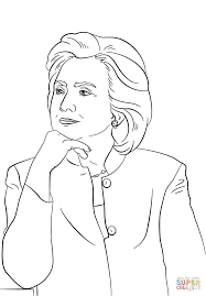 hillary clinton coloring page free printable coloring pages