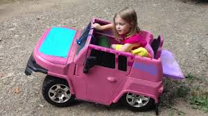 power wheels jeep frozen piper on the bagged power wheels youtube