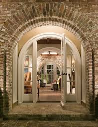 Brick Stairs Design Door Arch Design Entry Traditional With Wood Floor Brick