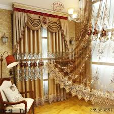 Royal Blue Bedroom Curtains by European And American Style Royal Gold Luxury Curtains For Living