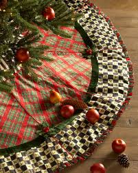 plaid tree skirt mackenzie childs tartan christmas tree skirt