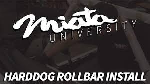miata logo 90 05 na nb mazda miata harddog rollbar install youtube