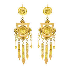 gold chandelier earrings antique gold chandelier earrings for sale at 1stdibs